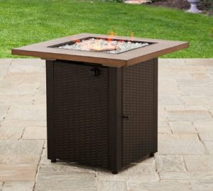 Mainstays Laurel gas fire pit for outdoor use
