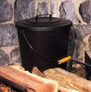 Pleasant Hearth Ash bucket with lid