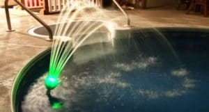 Pool fountain lights