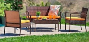 Outdoor Conversation Sets-THY-HOM TeaSet conversation set