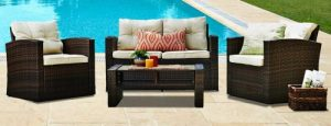 Outdoor Conversation Sets-Thy-Hom Roatan wicker conversation set