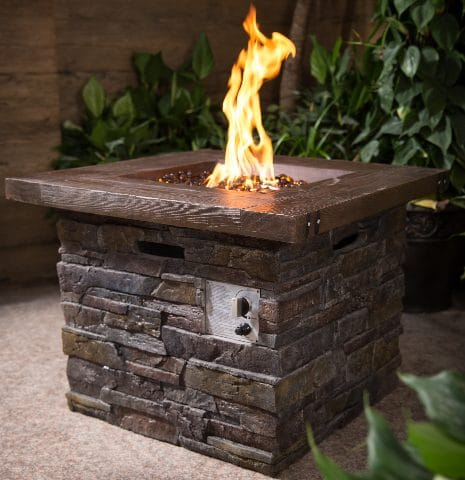 Vesuvius Stone Look Gas Fire Pits for Outdoor Use