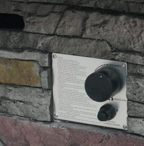Vesuvius gas fire pit control panel