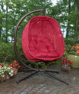 Flowerhouse Hanging Egg Outdoor Patio Furniture Chairs With Stand