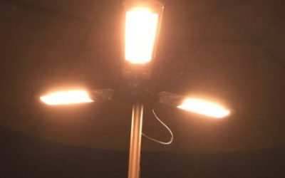 Outdoor Electric Patio Heater with Umbrella Mount