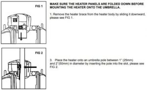 Hiland Parasol mounting instructions