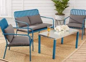 Mainstays Seaton Creek Mainstays Seaton Creek chair with the Outdoor patio Loveseat with cushions set