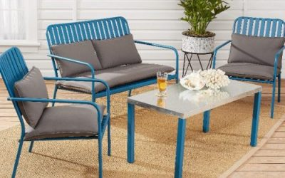 Mainstays Seaton Creek Outdoor Patio Loveseat with Cushions