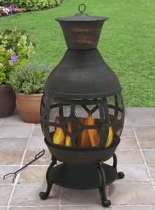 Chiminea Outdoor Fireplace-Better Homes and Gardens Cast Iron Chiminea Outdoor Fireplace