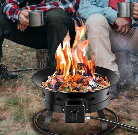 Costway Portable Fire Pit for Camping