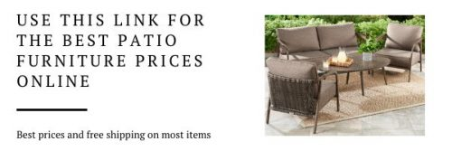 Patio Furniture with Love Seat and Table