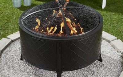Wood Burning Round Fire Pit with Covers