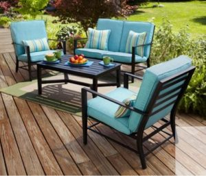 Mainstays Rockview Patio Furniture with Love Seat