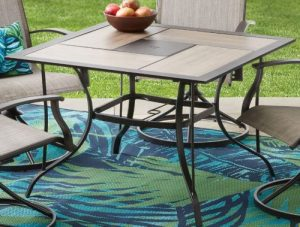 Mainstays Westmont Hills Patio Furniture Dining Sets dining table