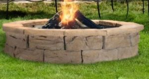 Stone woodburning fire pit