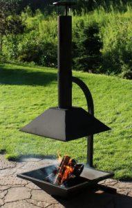 Sunnydaze Modern Chiminea Outdoor Fireplace
