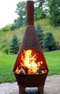 Sunnydaze RusticChiminea Outdoor Fireplace