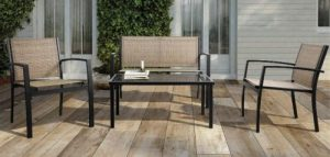 Walnew 4 Piece Patio Furniture Without Cushions
