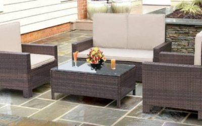 Walnew Outdoor Wicker Patio Furniture conversation sets