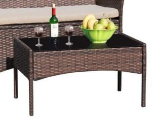 Walnew Outdoor Wicker Patio Furniture coffee table
