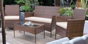 Walnew Outdoor Wicker Patio Furniture set