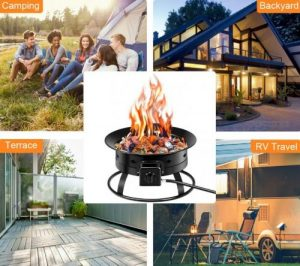 Where to use your Costway Portable Fire Pit for Camping