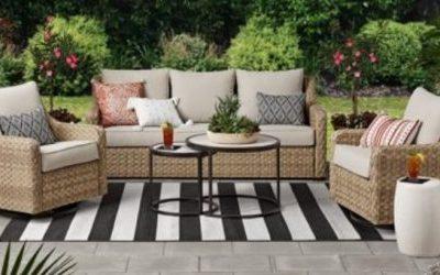 Better Homes & Gardens River Oaks Wicker Patio Conversation Set