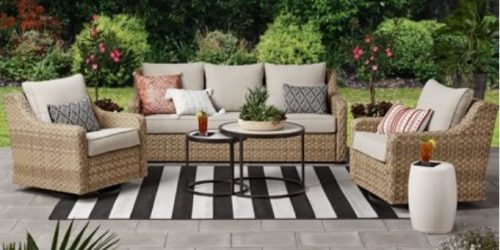 Better Homes & Gardens River Oaks Wicker Patio Conversation Set