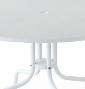 Crosley Griffith Table leg details for patio dining furniture sets