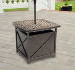 Hanover Outdoor Traditions Cast-Top Side Table_Umbrella Stand