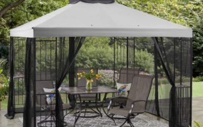 Mainstays Easy Assembly Garden Gazebo with Canopy 10×10