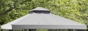 Mainstays Easy Assembly Garden Gazebo with Grey Canopy