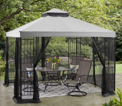 Mainstays Easy Assembly Garden Gazebo with Canopy 10×10
