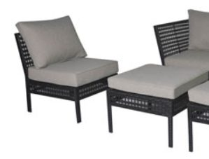 Mainstays Ayden Park Wicker Patio Set chair and ottoman