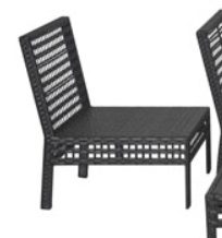 Mainstays Ayden Park Wicker Patio Set chair without cushion