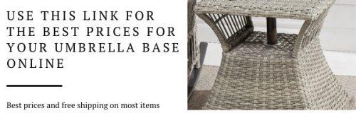 Umbrella base side table