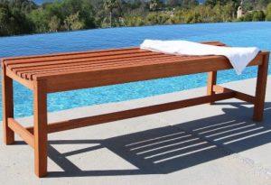5-foot Eucalyptus Outdoor Backless Benches