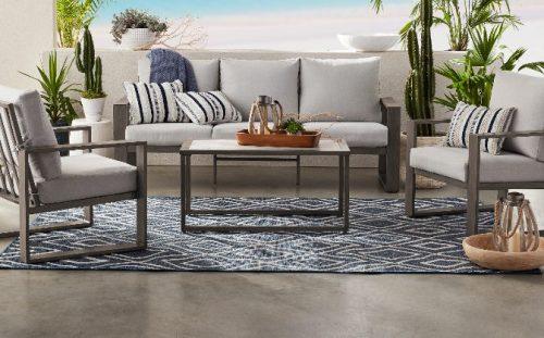 Better Homes & Gardens Belle Haven Metal Patio Conversation Set
