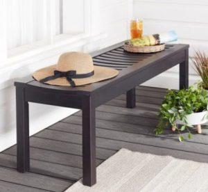 Better Homes & Gardens Delahey Wood Outdoor Backless Benches