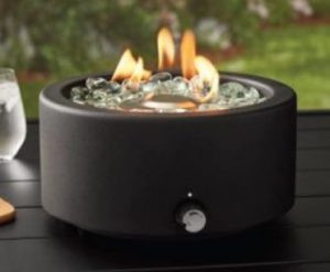 Better Homes & Gardens Round Tabletop Gas Fire pit
