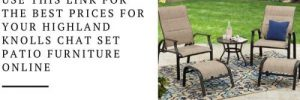 Highland Knolls Patio Chat Set
