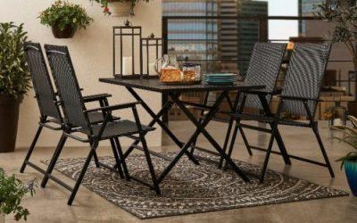 Mainstays Greyson Square Folding Patio Furniture Dining Sets