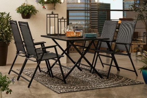 Mainstays Greyson Square Folding Patio Furniture Dining Sets