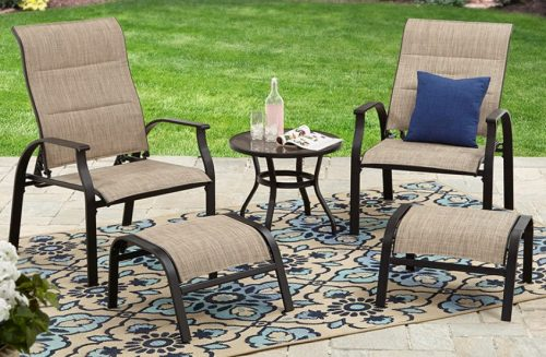 Mainstays Highland Knolls Reclining Patio Chat Set