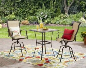 Sling Patio Furniture Sets-Mainstays Wesley Creek tall bistro set
