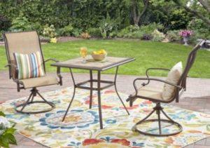 Sling Patio Furniture Sets-Mainstays Wesley Creek bistro set