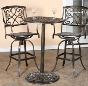 Pismo Bar Height Bistro Sets for Outdoor