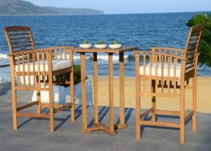 Safavieh Pate Bar Height Bistro Sets for Outdoor