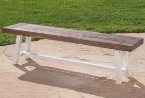 Ty Acacia Wood outdoor backless benches