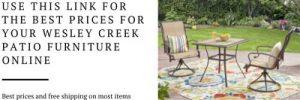 Wesley Creek patio furniture